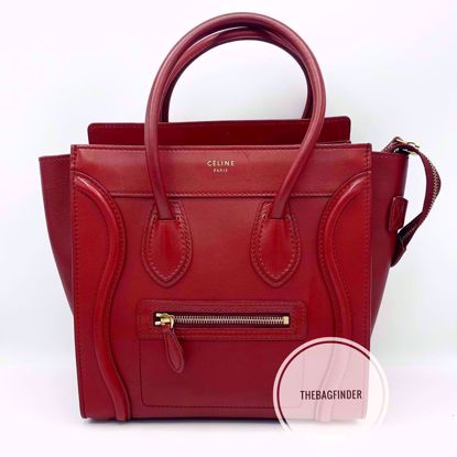 Picture of Celine Micro Luggage Red