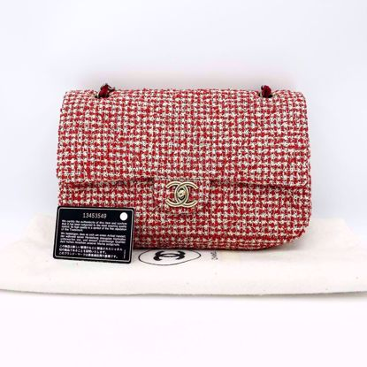 Picture of Chanel Double Flap Tweed Large