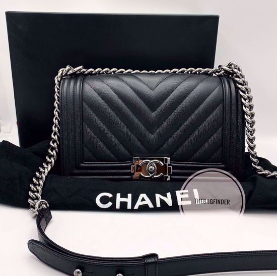 Picture of Chanel Le Boy Caviar Old Medium