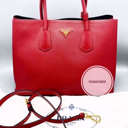 Picture of Prada Cuir Saffiano Red