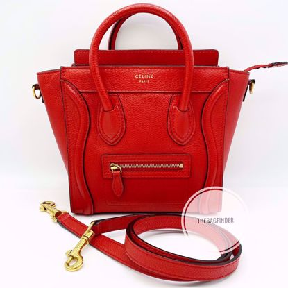 Picture of Celine Nano Pebbled Leather Red