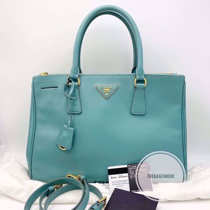 Picture of Prada Saffiano Blue Green