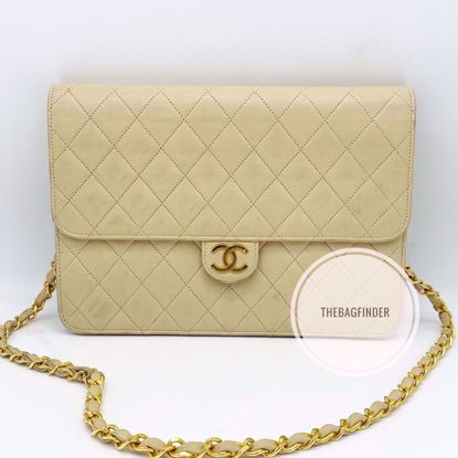 Picture of Chanel Single Flap Cream