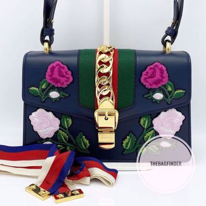 Picture of Gucci Sylvie Small Blue