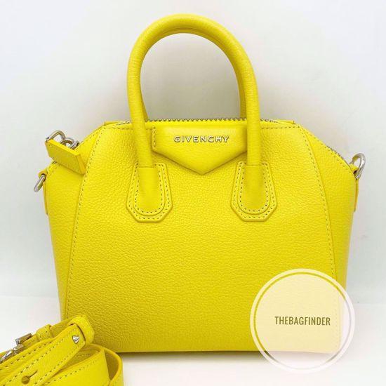 Picture of Givenchy Antigona Mini Pebbled Yellow