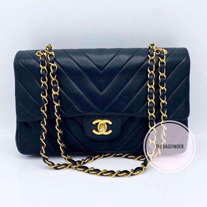 Picture of Chanel Double Flap Medium Chevron