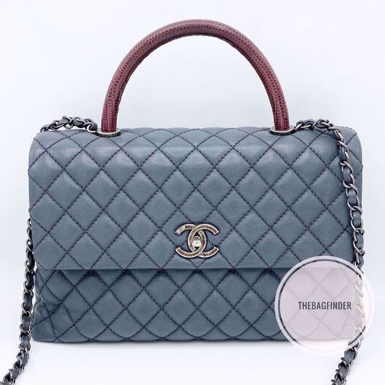Picture of Chanel Coco TopHandle Grey Caviar