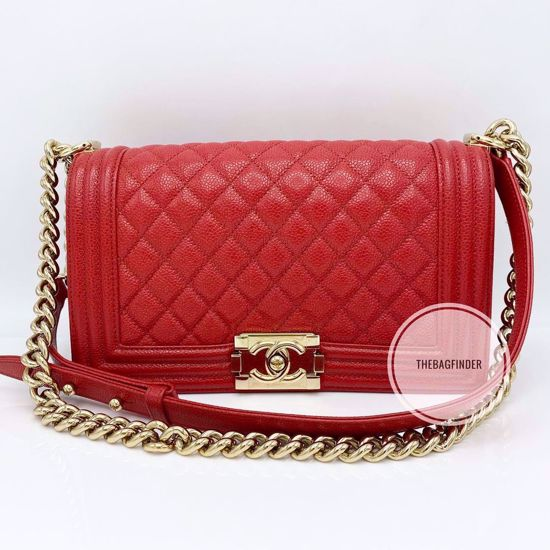 Picture of Chanel Le Boy Old Medium Caviar