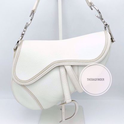 Picture of Dior Saddle Bag White Leather