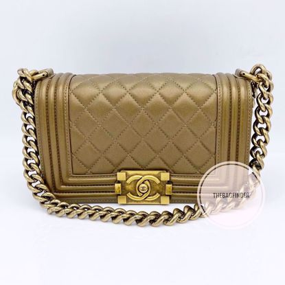 Picture of Chanel Le Boy Small Bronze Lambskin