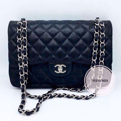Picture of Chanel Jumbo Double Flap Black Lambskin