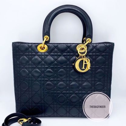 Picture of Dior Cannage Lady Large Leather