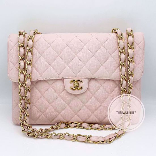 Picture of Chanel Light Pink Caviar Large Single Flap